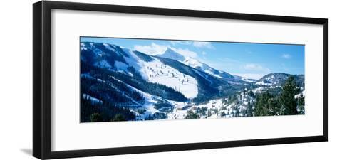 Snowcapped Mountains, Lone Mountain, Big Sky, Montana, USA--Framed Art Print