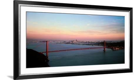Suspension Bridge across a Bay, Golden Gate Bridge, San Francisco Bay, San Francisco--Framed Art Print