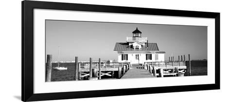 Roanoke Marshes Lighthouse, Outer Banks, North Carolina, USA--Framed Art Print
