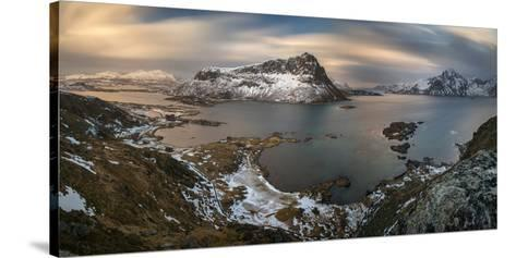 Surroundings of Offersoykamen at Sunset, Lofoten, Nordland, Norway--Stretched Canvas Print