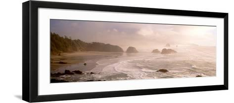 Rock Formations in the Ocean, Ecola State Park, Cannon Beach, Clatsop County, Oregon, USA--Framed Art Print