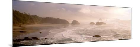 Rock Formations in the Ocean, Ecola State Park, Cannon Beach, Clatsop County, Oregon, USA--Mounted Photographic Print
