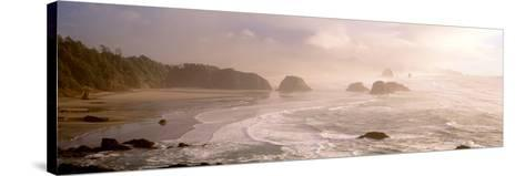 Rock Formations in the Ocean, Ecola State Park, Cannon Beach, Clatsop County, Oregon, USA--Stretched Canvas Print
