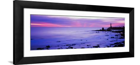 Lighthouse on the Coast, Pigeon Point Lighthouse, Pescadero, California, USA--Framed Art Print