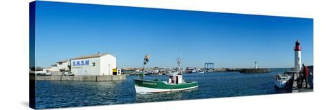 Fishing Boats in the Sea, La Cotiniere, Oleron, Charente-Maritime, Poitou-Charentes, France--Stretched Canvas Print