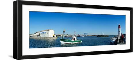 Fishing Boats in the Sea, La Cotiniere, Oleron, Charente-Maritime, Poitou-Charentes, France--Framed Art Print