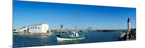 Fishing Boats in the Sea, La Cotiniere, Oleron, Charente-Maritime, Poitou-Charentes, France--Mounted Photographic Print