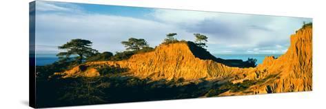 Rock Formations on a Landscape, Broken Hill, Torrey Pines State Natural Reserve, La Jolla--Stretched Canvas Print