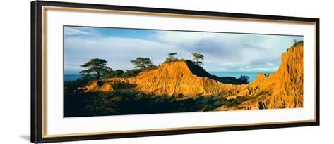 Rock Formations on a Landscape, Broken Hill, Torrey Pines State Natural Reserve, La Jolla--Framed Art Print