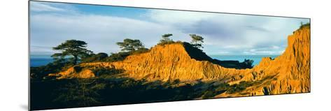 Rock Formations on a Landscape, Broken Hill, Torrey Pines State Natural Reserve, La Jolla--Mounted Photographic Print