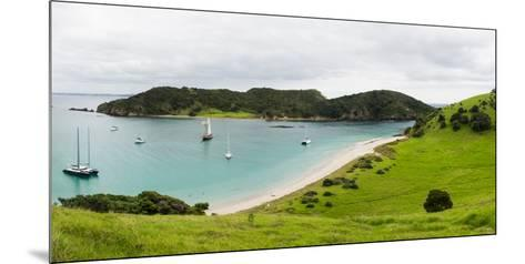 Boats Docked in Small Bay at Waewaetorea Island, Bay of Islands, Northland Region--Mounted Photographic Print