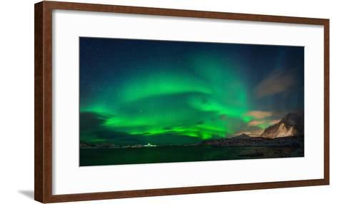 Aurora Borealis Above Ramberg, Lofoten, Nordland, Norway--Framed Art Print
