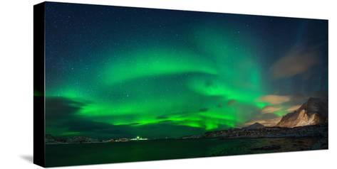 Aurora Borealis Above Ramberg, Lofoten, Nordland, Norway--Stretched Canvas Print