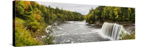 Elevated View of Waterfall, Tahquamenon Falls, Tahquamenon Falls State Park, Chippewa County--Stretched Canvas Print