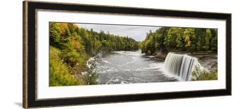 Elevated View of Waterfall, Tahquamenon Falls, Tahquamenon Falls State Park, Chippewa County--Framed Art Print