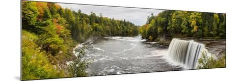 Elevated View of Waterfall, Tahquamenon Falls, Tahquamenon Falls State Park, Chippewa County--Mounted Photographic Print