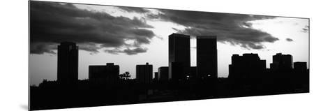 Silhouette of Skyscrapers in a City, Century City, City of Los Angeles, Los Angeles County--Mounted Photographic Print