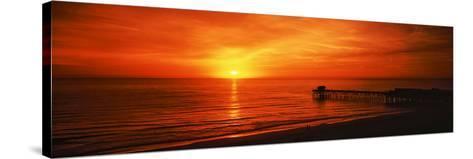 Sunset over the Ocean, Key Largo, Florida Keys, Florida, USA--Stretched Canvas Print