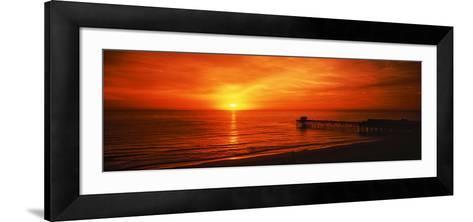 Sunset over the Ocean, Key Largo, Florida Keys, Florida, USA--Framed Art Print