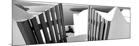 Gate at the Terrace of a House, Santorini, Cyclades Islands, Greece--Mounted Photographic Print