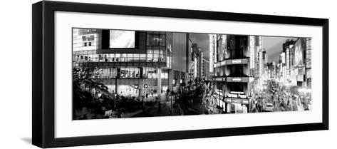 Buildings Lit Up at Night, Shinjuku Ward, Tokyo Prefecture, Kanto Region, Japan--Framed Art Print