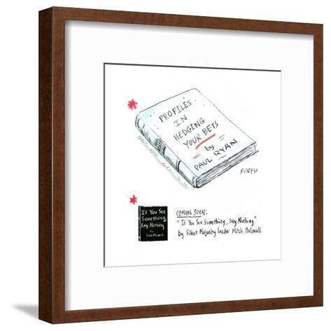 Profiles in Hedging Your Bets by Paul Ryan - Cartoon-David Sipress-Framed Art Print