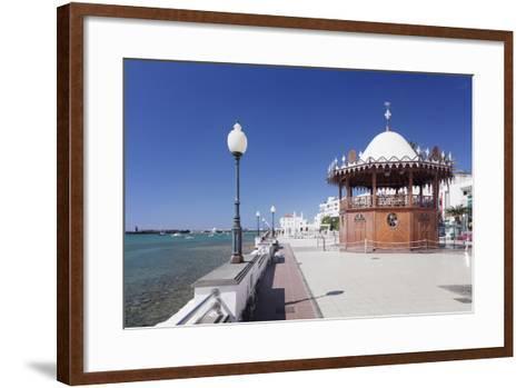 Pavilion on the Promenade La Marina, Arrecife, Lanzarote, Canary Islands, Spain, Atlantic, Europe-Markus Lange-Framed Art Print