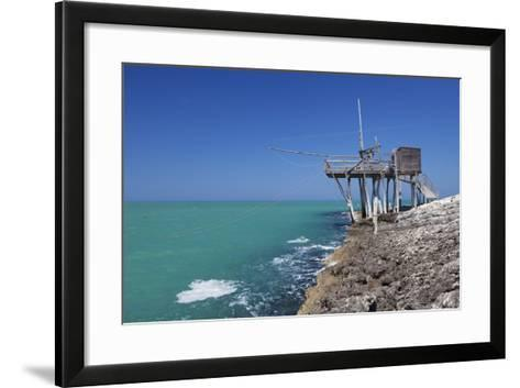 Trabuccho, Traditional Fishing Machine, Gargano Coast, Foggia Province, Puglia, Italy, Europe-Markus Lange-Framed Art Print
