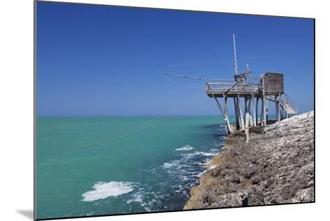 Trabuccho, Traditional Fishing Machine, Gargano Coast, Foggia Province, Puglia, Italy, Europe-Markus Lange-Mounted Photographic Print