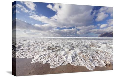 View from Famara Beach to La Graciosa Island, Lanzarote, Canary Islands, Spain, Atlantic, Europe-Markus Lange-Stretched Canvas Print