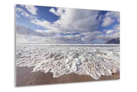 View from Famara Beach to La Graciosa Island, Lanzarote, Canary Islands, Spain, Atlantic, Europe-Markus Lange-Metal Print