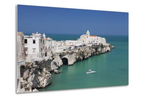 Punta San Francesco and Old Town, Vieste, Gargano, Foggia Province, Puglia, Italy, Europe-Markus Lange-Metal Print