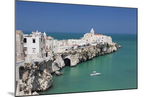 Punta San Francesco and Old Town, Vieste, Gargano, Foggia Province, Puglia, Italy, Europe-Markus Lange-Mounted Photographic Print