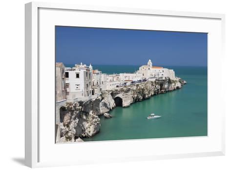 Punta San Francesco and Old Town, Vieste, Gargano, Foggia Province, Puglia, Italy, Europe-Markus Lange-Framed Art Print