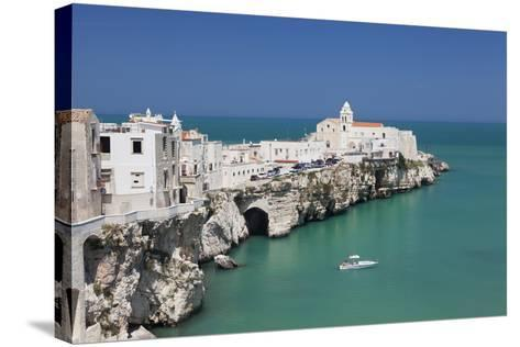 Punta San Francesco and Old Town, Vieste, Gargano, Foggia Province, Puglia, Italy, Europe-Markus Lange-Stretched Canvas Print