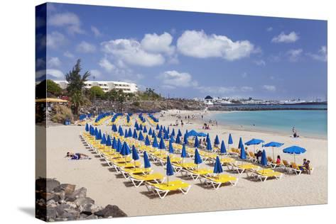 Playa Dorada Beach, Playa Blanca, Lanzarote, Canary Islands, Spain, Atlantic, Europe-Markus Lange-Stretched Canvas Print