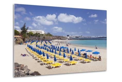 Playa Dorada Beach, Playa Blanca, Lanzarote, Canary Islands, Spain, Atlantic, Europe-Markus Lange-Metal Print