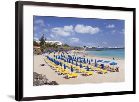 Playa Dorada Beach, Playa Blanca, Lanzarote, Canary Islands, Spain, Atlantic, Europe-Markus Lange-Framed Art Print