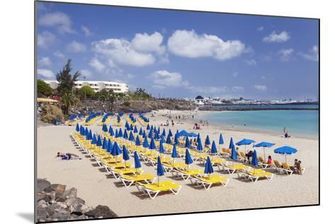 Playa Dorada Beach, Playa Blanca, Lanzarote, Canary Islands, Spain, Atlantic, Europe-Markus Lange-Mounted Photographic Print