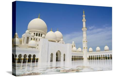 Sheikh Zayed Grand Mosque, Abu Dhabi, United Arab Emirates, Middle East-Fraser Hall-Stretched Canvas Print