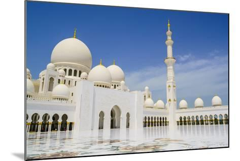Sheikh Zayed Grand Mosque, Abu Dhabi, United Arab Emirates, Middle East-Fraser Hall-Mounted Photographic Print