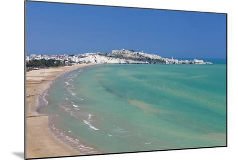 Castello Beach, Vieste in the Background, Gargano, Foggia Province, Puglia, Italy, Europe-Markus Lange-Mounted Photographic Print