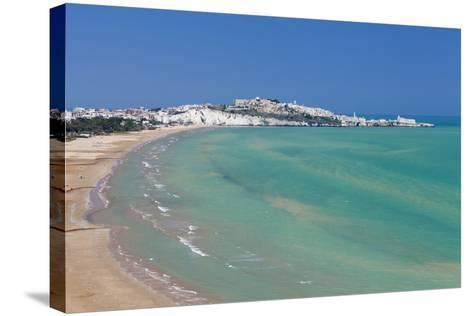 Castello Beach, Vieste in the Background, Gargano, Foggia Province, Puglia, Italy, Europe-Markus Lange-Stretched Canvas Print
