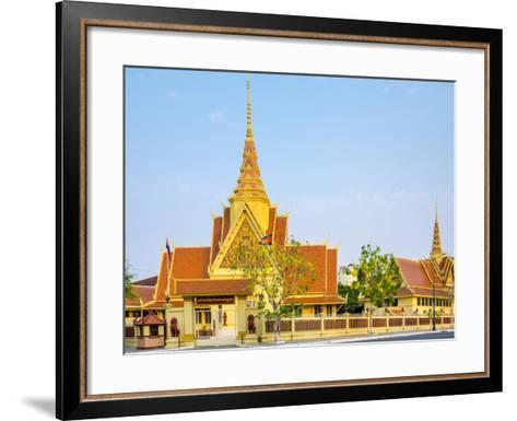 Cambodian Supreme Court, Phnom Penh, Cambodia, Indochina, Southeast Asia, Asia-Jason Langley-Framed Art Print