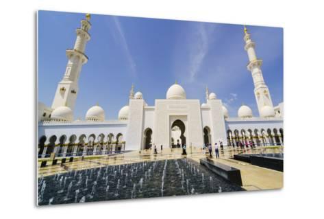 Sheikh Zayed Grand Mosque, Abu Dhabi, United Arab Emirates, Middle East-Fraser Hall-Metal Print