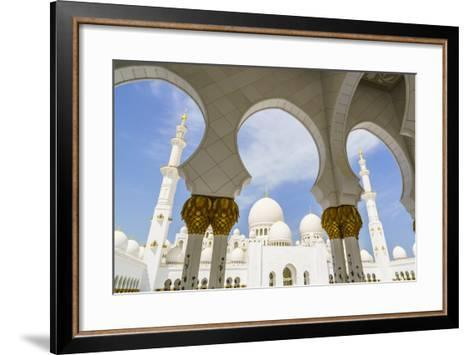 Sheikh Zayed Grand Mosque, Abu Dhabi, United Arab Emirates, Middle East-Fraser Hall-Framed Art Print