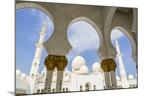 Sheikh Zayed Grand Mosque, Abu Dhabi, United Arab Emirates, Middle East-Fraser Hall-Mounted Photographic Print