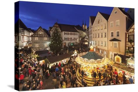 Christmas Fair, Blauer Turm Tower, Bad Wimpfen, Baden-Wurttemberg, Germany, Europe-Markus Lange-Stretched Canvas Print
