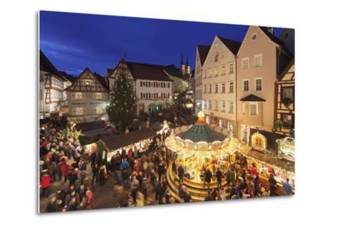 Christmas Fair, Blauer Turm Tower, Bad Wimpfen, Baden-Wurttemberg, Germany, Europe-Markus Lange-Metal Print