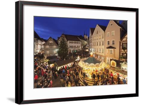 Christmas Fair, Blauer Turm Tower, Bad Wimpfen, Baden-Wurttemberg, Germany, Europe-Markus Lange-Framed Art Print